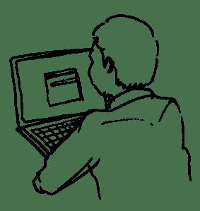 LineDrawingManComputer